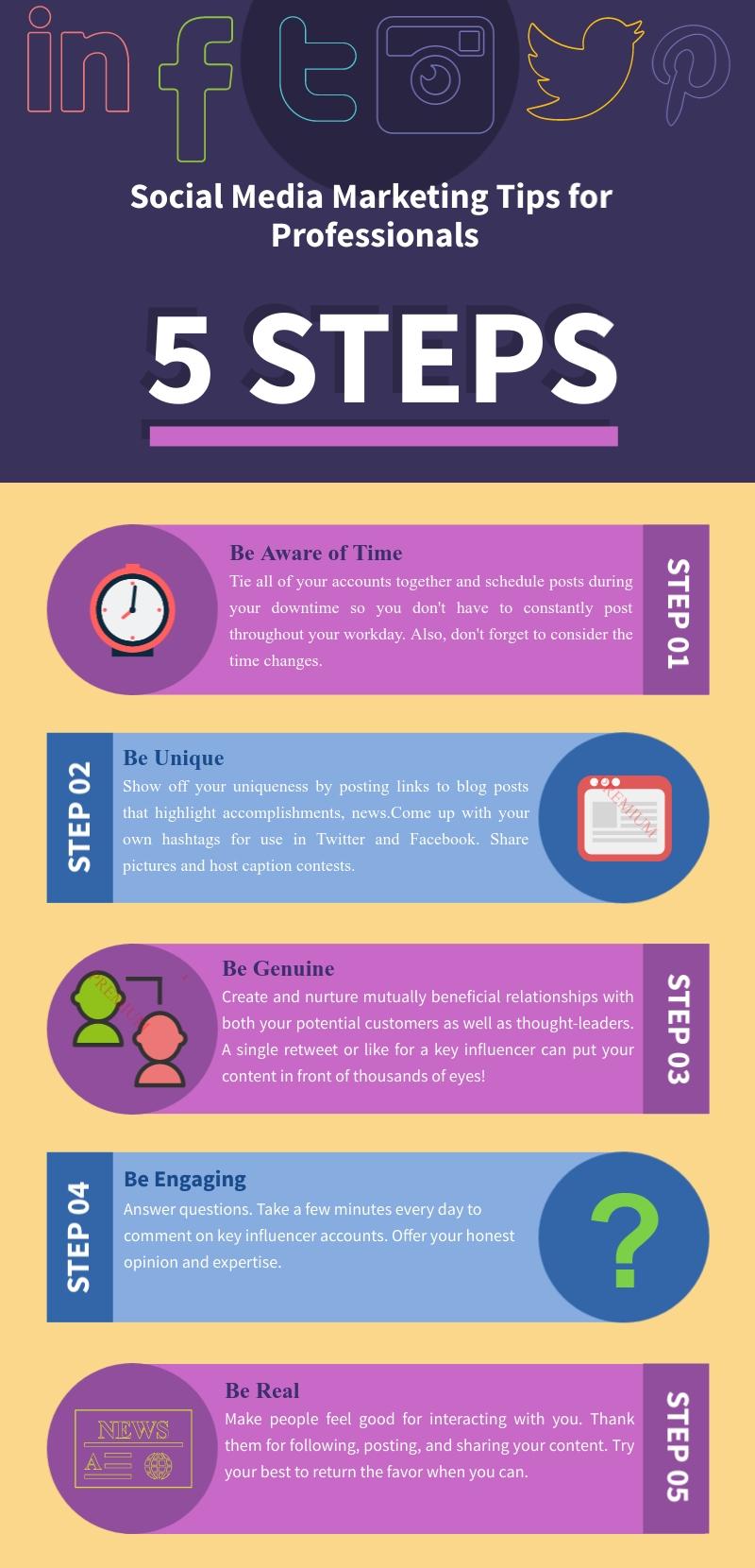5 Social Media Marketing Tips for Professionals