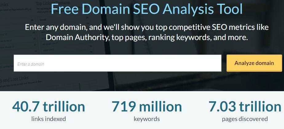 Moz Free Domain Analysis