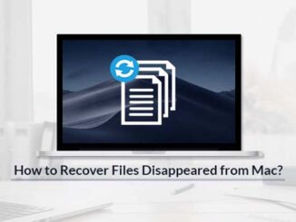 Recover Files Disappeared from Mac