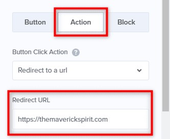 adjust your action URL of the campaign from the button settings