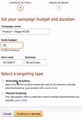 Budget and Campaign Duration